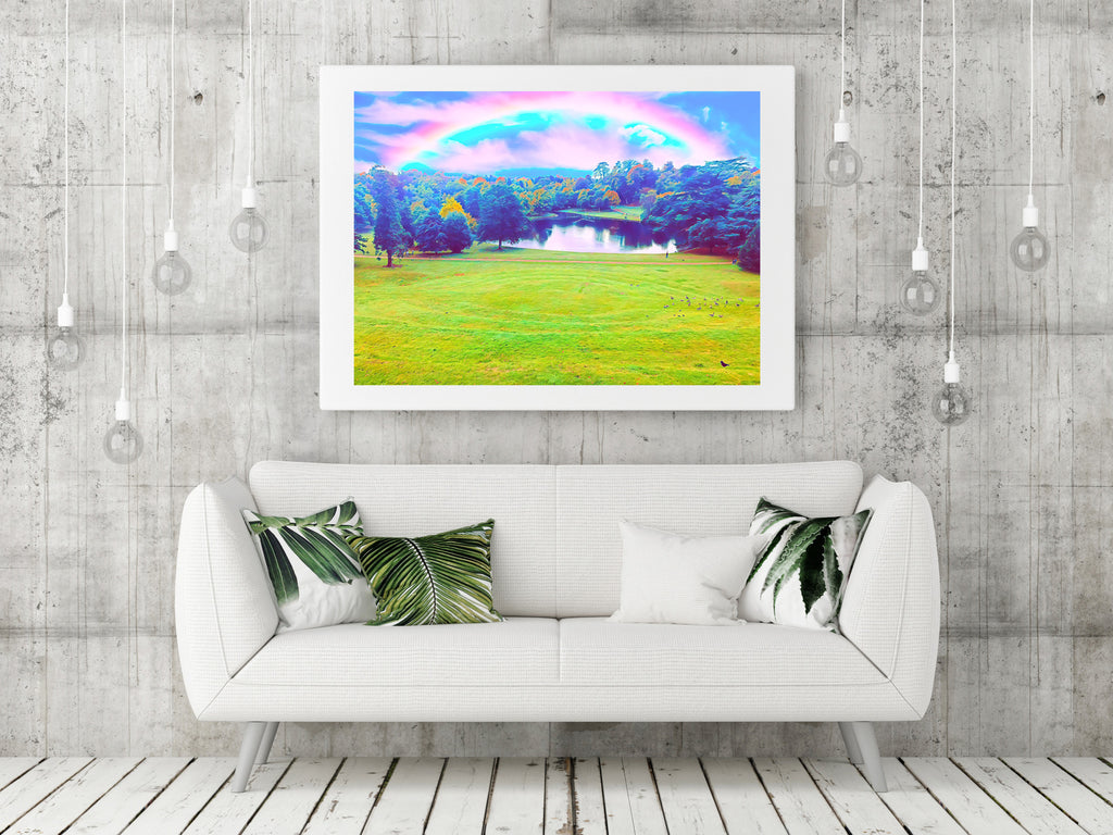 Magical Claremont Gardens in neon - Fine Art Giclée Print (30x40 mounted)