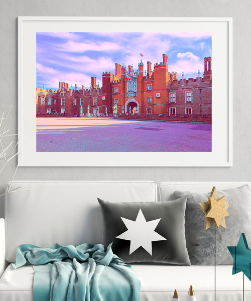 Hampton Court Palace Entrance - Fine Art Giclée Print (30x40 mounted)