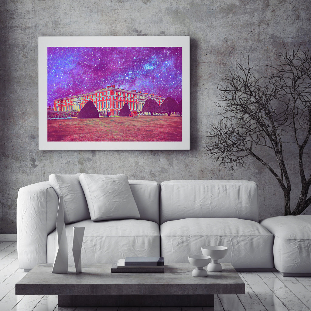 Hampton Court Palace Starry Night - Fine Art Giclée Print (30x40 mounted)