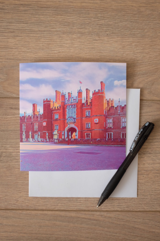 Hampton Court Palace Entrance Greeting Card - Free Delivery