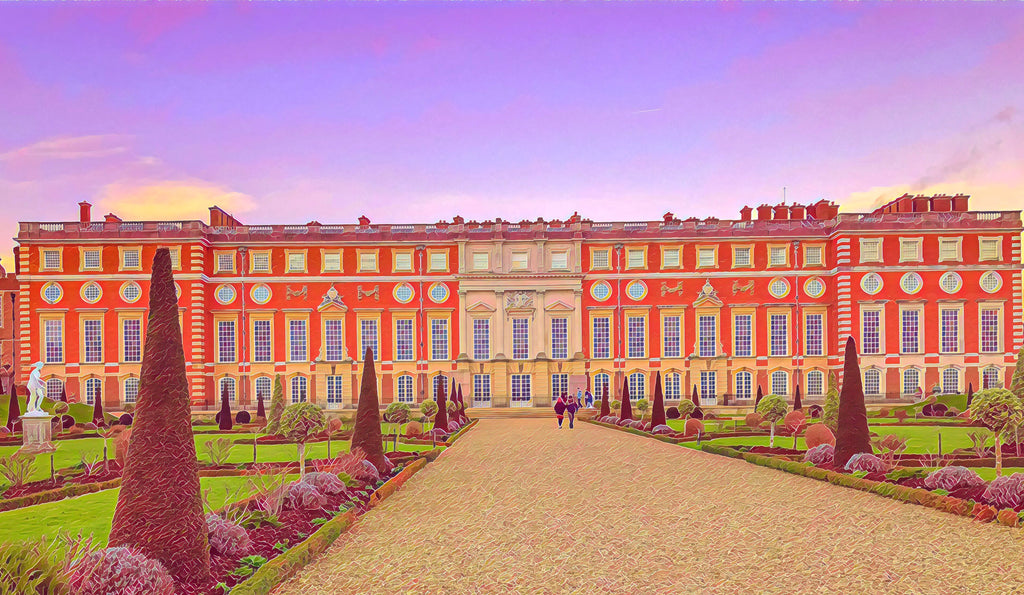 Hampton Court Privy Gardens - Fine Art Giclée Print (30x40 mounted)