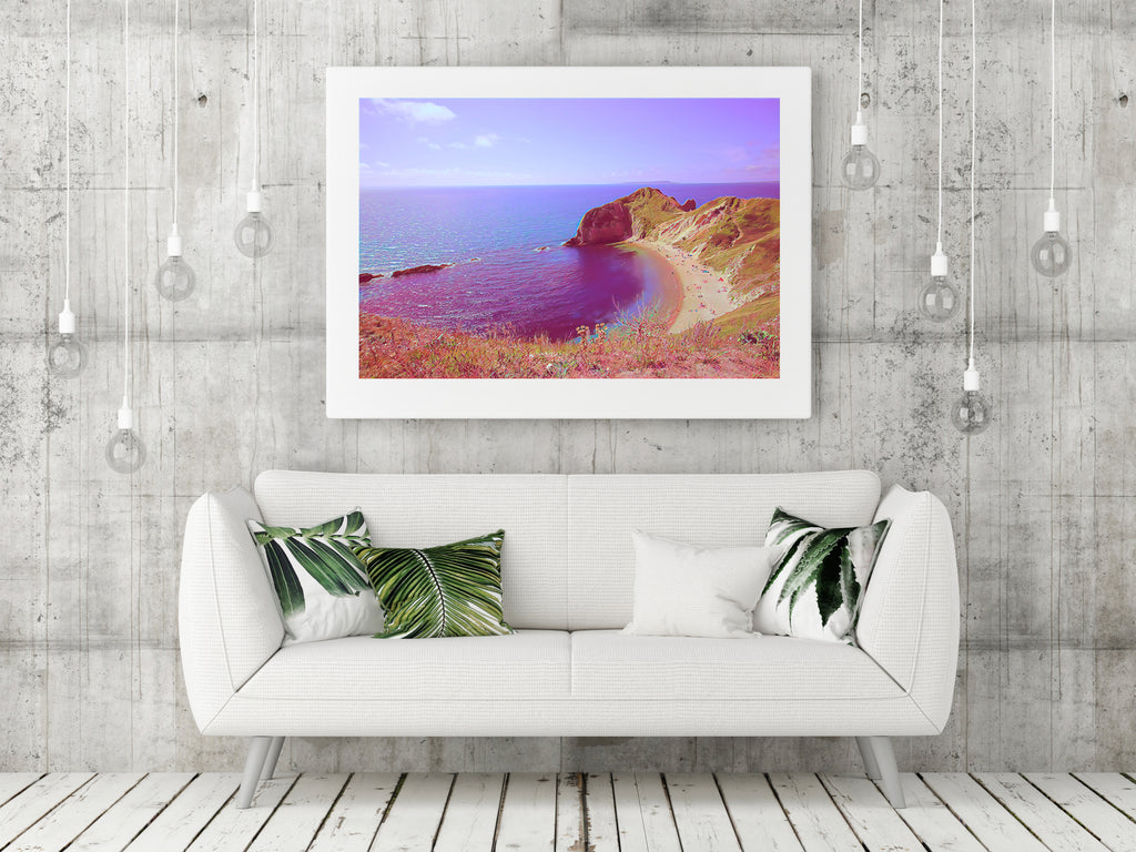 Lulworth Cove - Limited Edition Fine Art Giclée Print (30x40 mounted)