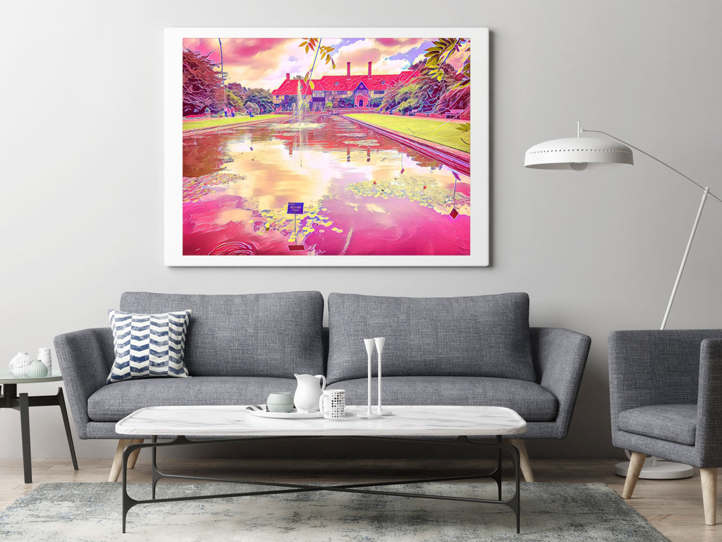 RHS Wisley Lake House - Fine Art Giclée Print (30x40 mounted)