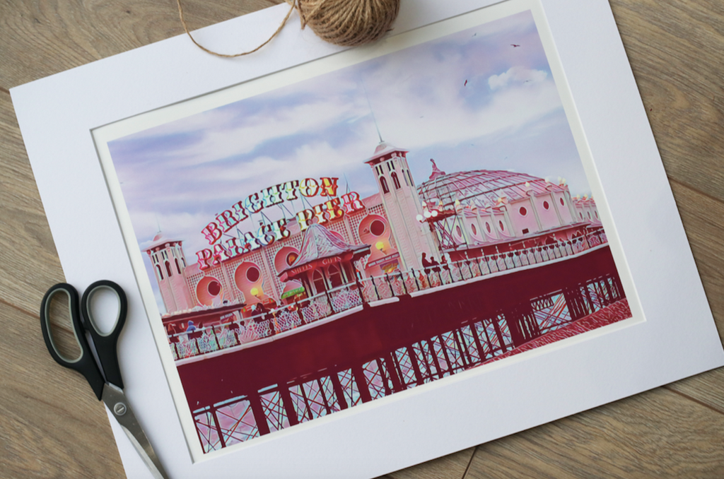 Brighton Pier - Limited Edition Fine Art Giclée Print (30x40 mounted)
