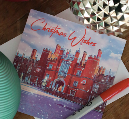 SOLD OUT Snowy Hampton Court Palace Christmas Card - Free Delivery