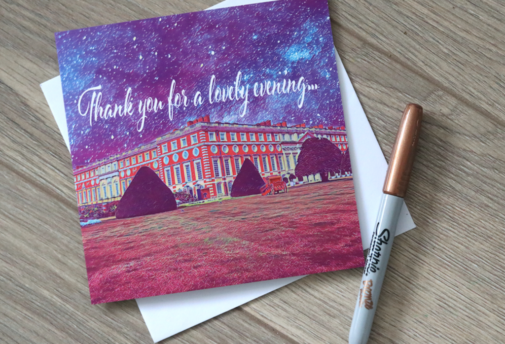 Hampton Court Palace Thank You Card - Free Delivery