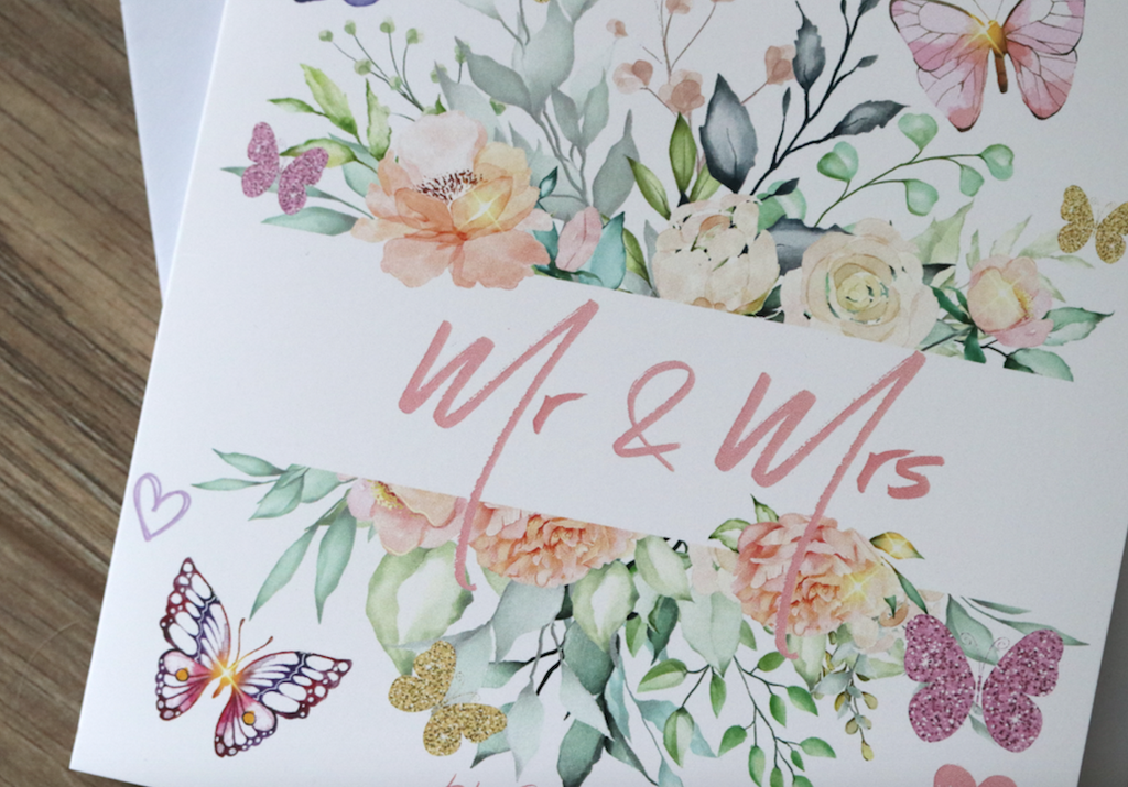 Mr & Mrs Wedding Card - Free Delivery