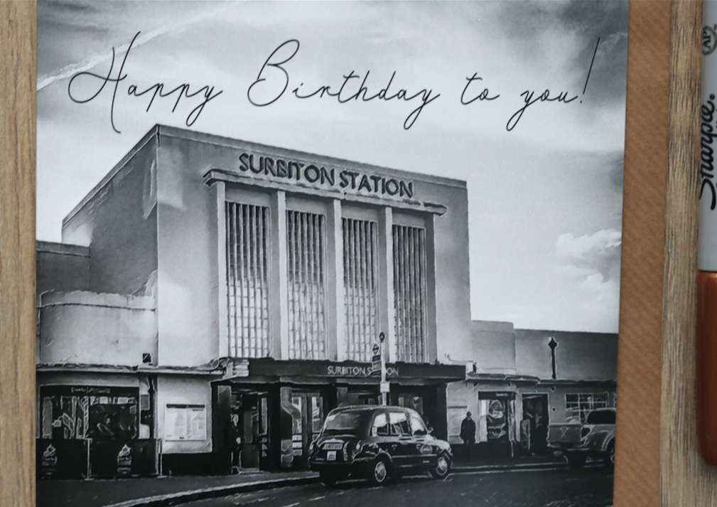 Surbiton Station Birthday Card - Free Delivery