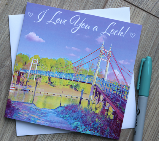 Teddington Lock Valentine's Day Card - Free Delivery