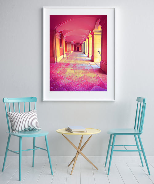 Hampton Court Palace, Arches - Fine Art Giclée Print (30x40 mounted)