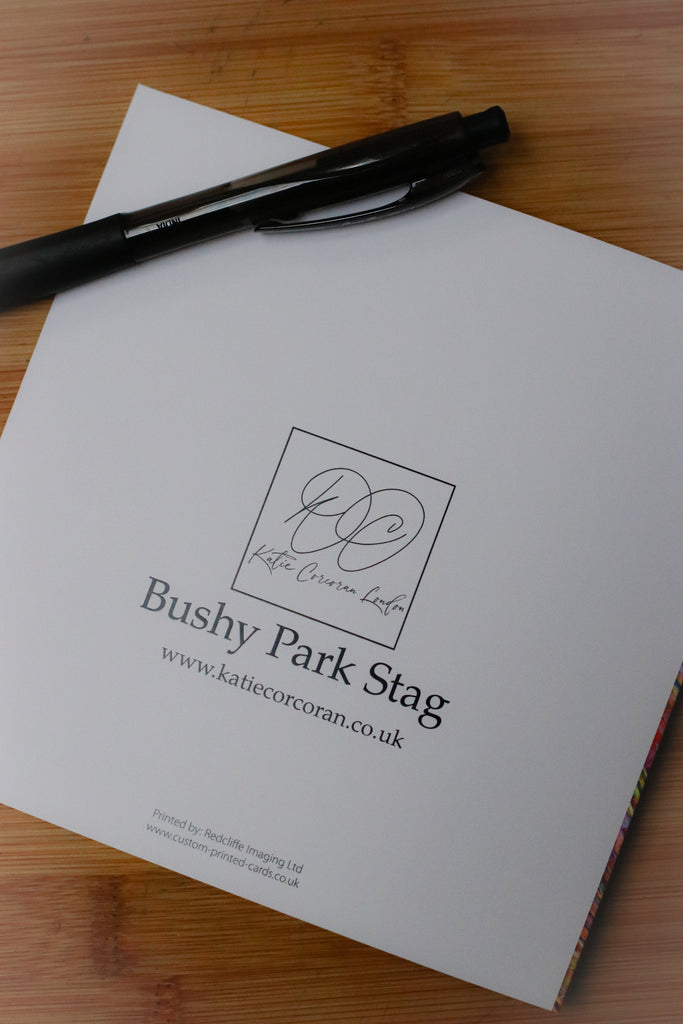 5 Bushy Park Stag pack of cards by Katie Corcoran London - FREE DELIVERY