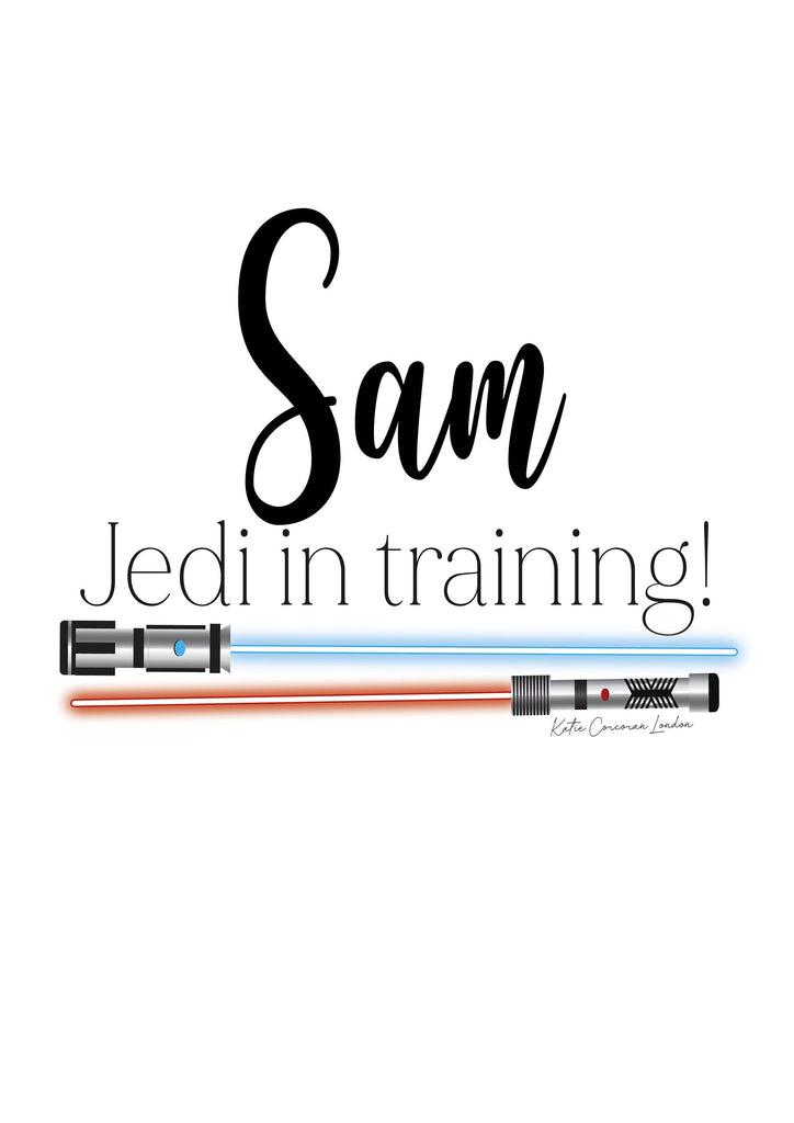 Star Wars Print, Jedi in Training art, Star Wars gift, Boys Birthday present, home decor, kids art, art print, nursery print, Katie Corcoran