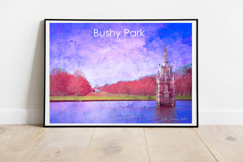 Bushy Park travel print by Katie Corcoran London - FREE DELIVERY