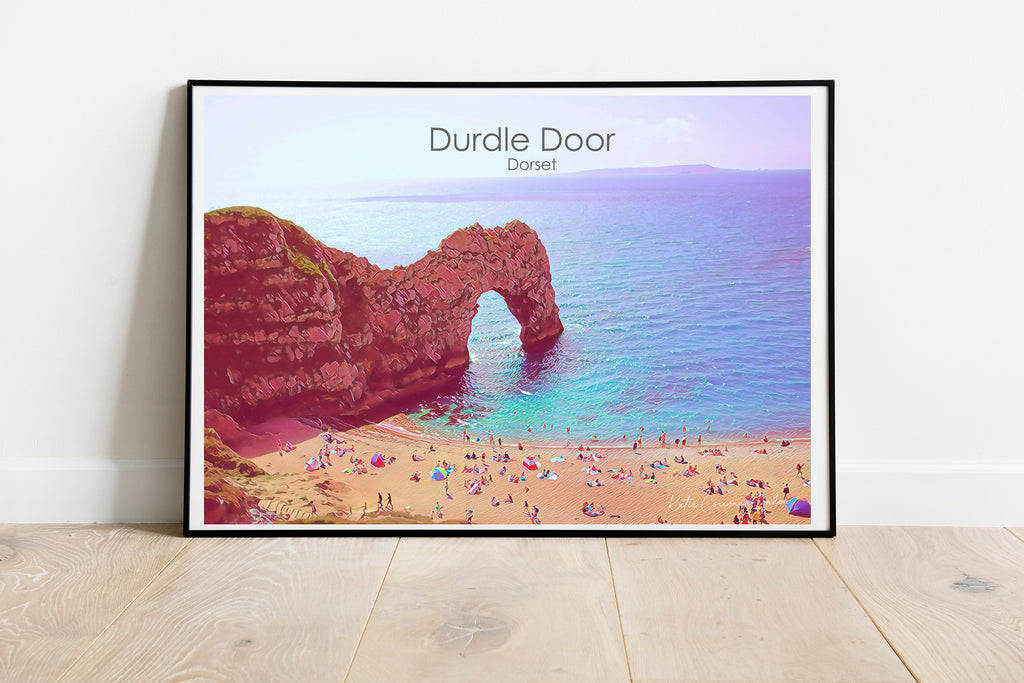Durdle Door print Travel Print by Katie Corcoran  - FREE DELIVERY