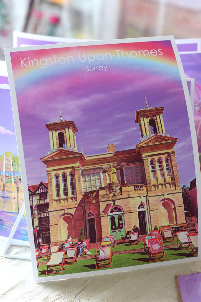 Kingston Market House travel print - FREE DELIVERY