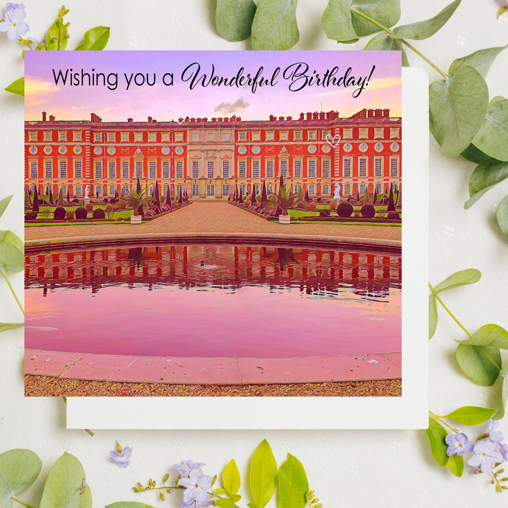 Pack of 5 Birthday Cards, Sending Hugs, Lockdown Cards, UK Birthday Card, Surrey Art, London Cards,  Bushy Park, Surbiton, Katie Corcoran