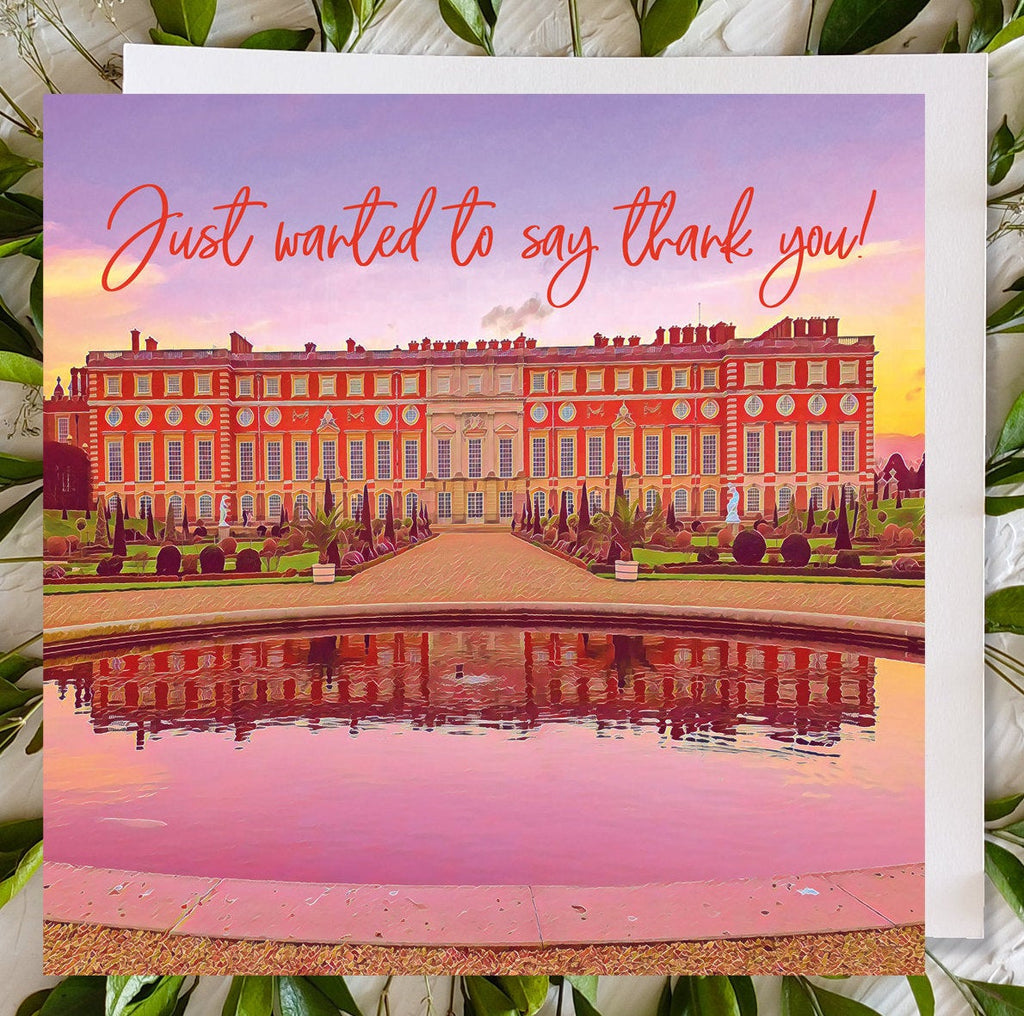 Hampton Court Palace Card, Privy Gardens, UK Thank you Card, Thank you Card, UK Card, Surrey Art, Thank You, Dispatched Same Day