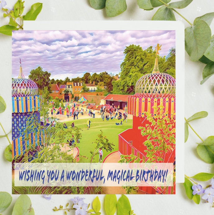 Kids Magical Birthday Card, The Magic Garden Hampton Court Palace, boys Birthday Card Uk, Magic Card, Teddington, Katie Corcoran