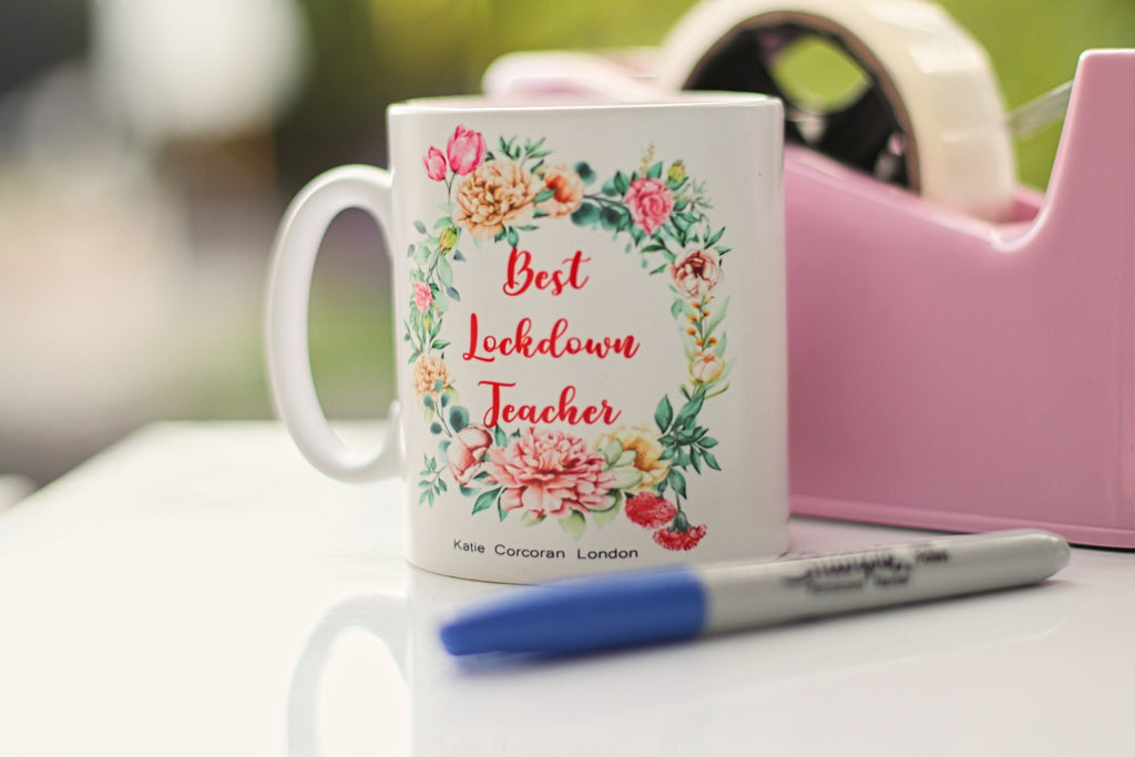 Teacher Gift UK Lockdown - Best Lockdown Teacher Mug - Teacher mug - lockdown mug - teacher lockdown gift -end of term gift -Katie Corcoran
