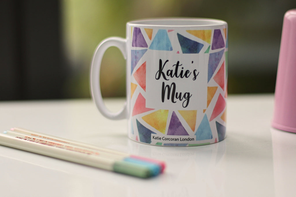 Personalised pastel mug - personalised mug uk - personalised gift for a friend - personalised mug for mum - pink mug - handmade name mug