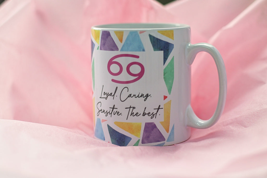 Cancer Zodiac Mug by Katie Corcoran London - FREE DELIVERY