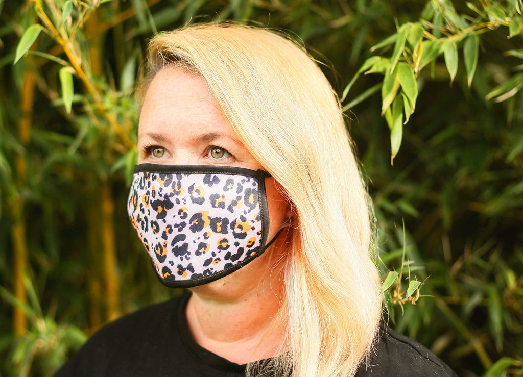 Pink Leopard Triple Layer Washable Face Mask - FREE DELIVERY