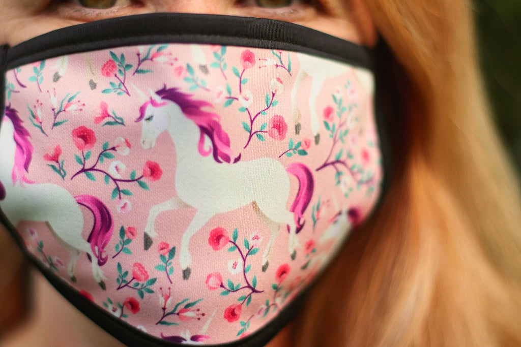Ladies Unicorn Face Mask -Reusable triple layer Face Mask -Adjustable Face Mask -unicorn Face Mask Uk Women -washable Triple Layer Face Mask