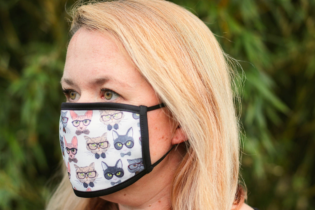 Cat Patterned Triple Layer Face Mask - FREE DELIVERY