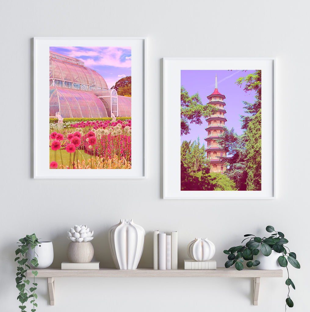 Great Padoga at Kew Gardens - Fine Art Giclée Print (30x40 mounted)