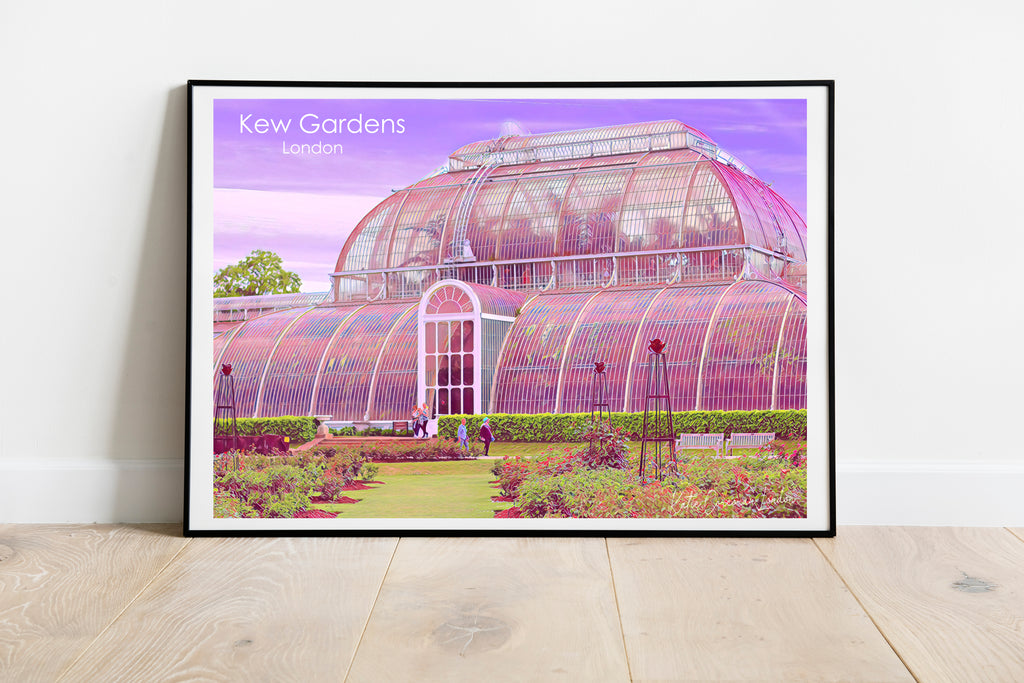 Kew Gardens travel poster  - A4 and A3 giclee print