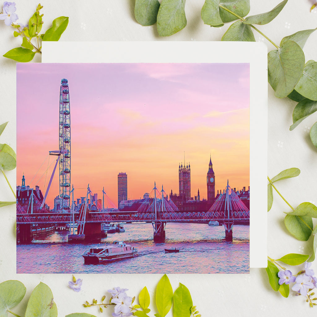 London Sunset Card - Free Delivery