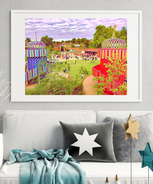 The Magic Garden - Limited Edition Fine Art Giclée Print (30x40 mounted)