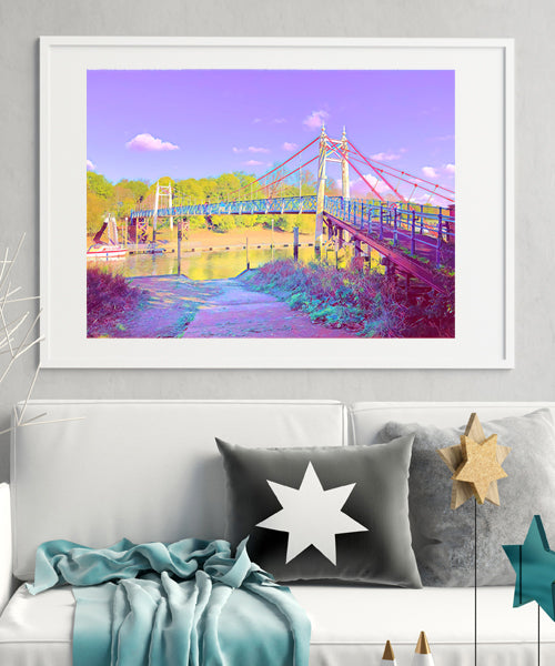 Valentine's Day offer - Teddington Lock Fine Art Print 30x40 & FREE Teddington Lock Love Card