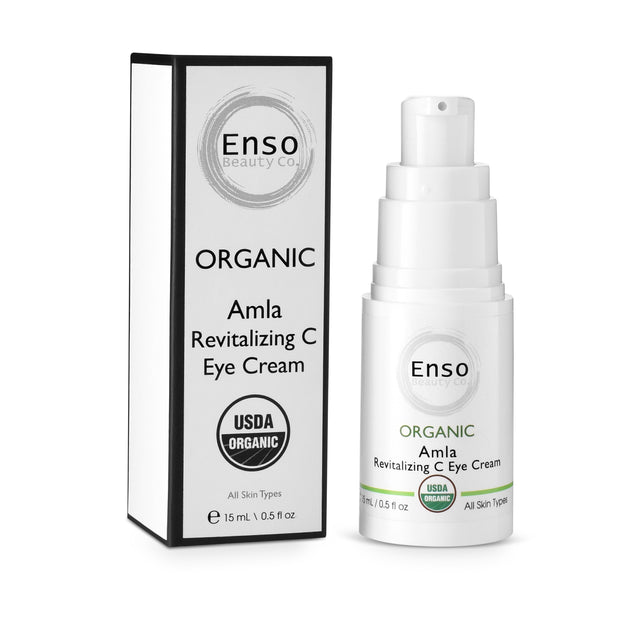Enso Beauty Co. Amla Revitalizing C Eye Cream. Minimize fine lines and wrinkles on under eyelids.