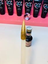 Load image into Gallery viewer, Gold Glitter Beautiful Nail Color Gel Polish