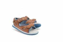 Load image into Gallery viewer, Bobux Kid+ Shark Sandal, Caramel.