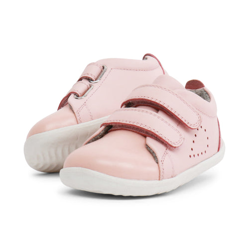 Bobux Step Up Grass Court, Seashell Pink.