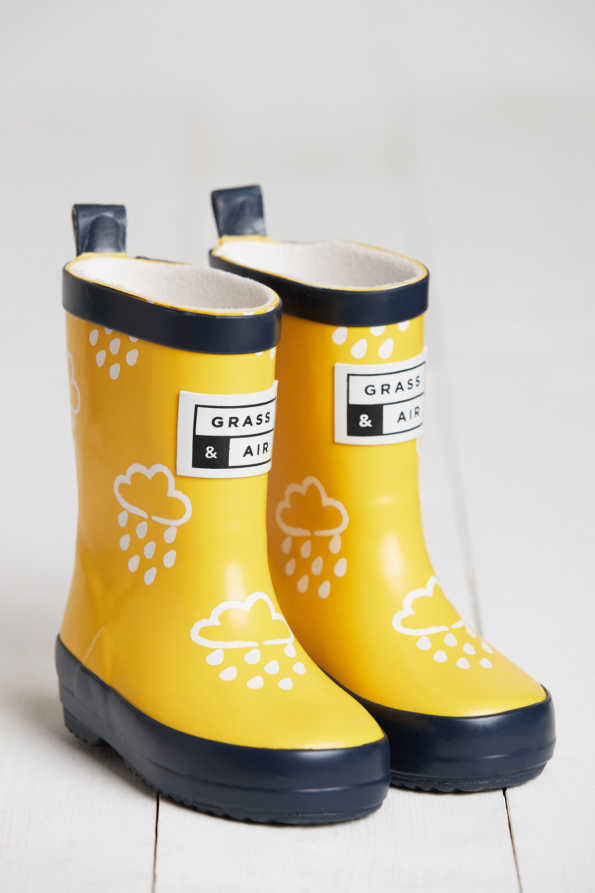 Grass & Air Wellies, Yellow (colour changing)