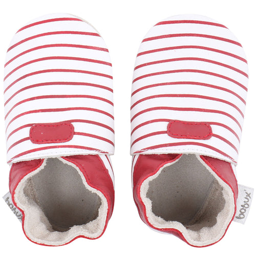 Bobux Vogue, Red & White Stripes