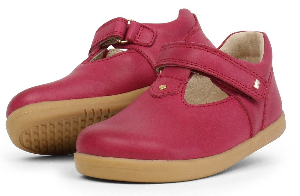 Bobux Iwalk Louise, Dark Pink.
