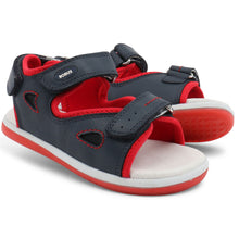 Load image into Gallery viewer, Bobux Kid+ Sporty Open Sandal, Navy.