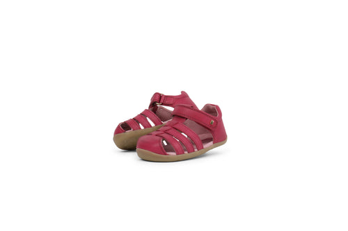 Bobux Step Up Jump Sandal, Dark Pink.