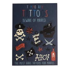 Load image into Gallery viewer, Beware of the Pirates Temporary Tattoos.