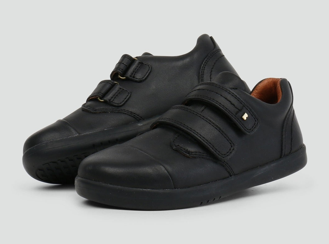 Bobux Port Black School Shoe