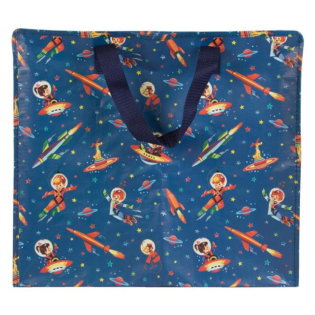 Retro Space Print Storage Bag