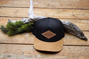 Hike Life Snapback (Black Jean & Brown Suede)