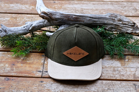 Hike Life Snapback (Corduroy Sage and Tan)