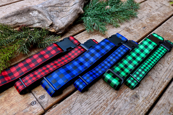 "Plaid 1"" and 1.5"" Collar (three colours)"