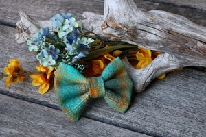 Butter Plaid Pet Bow