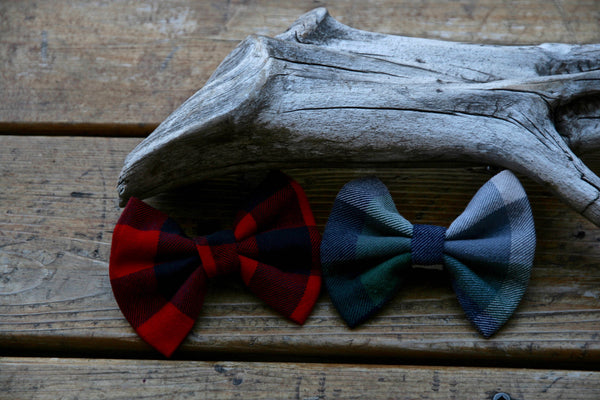 Red Plaid Pet Bow